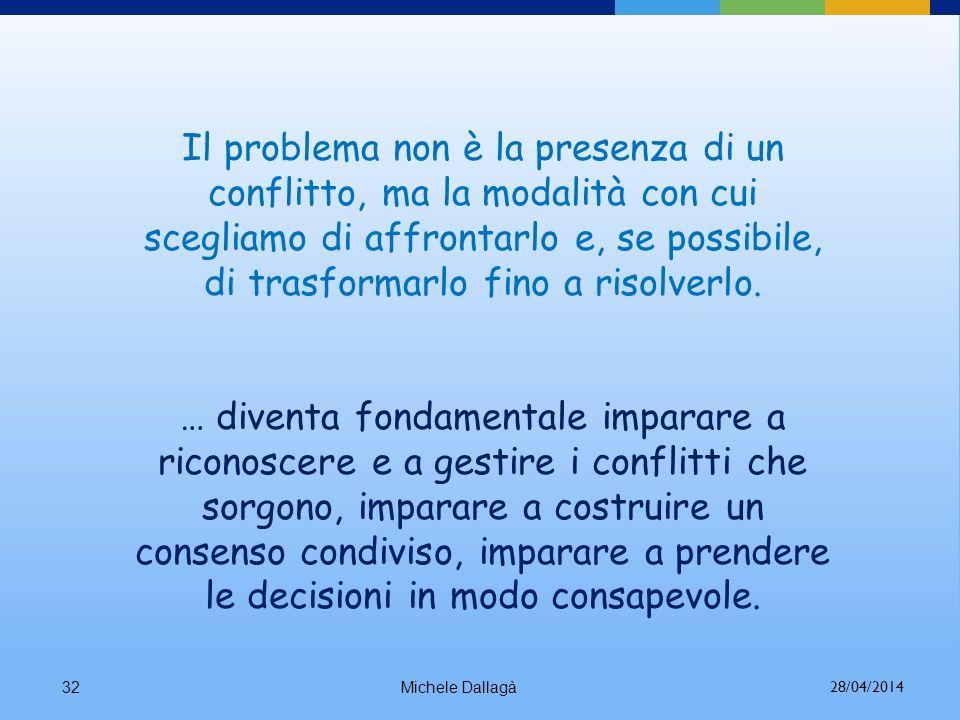 Il problema non è la presenza di un conflitto, ma la modalità con cui scegliamo di affrontarlo e, se possibile, di trasformarlo fino a risolverlo.