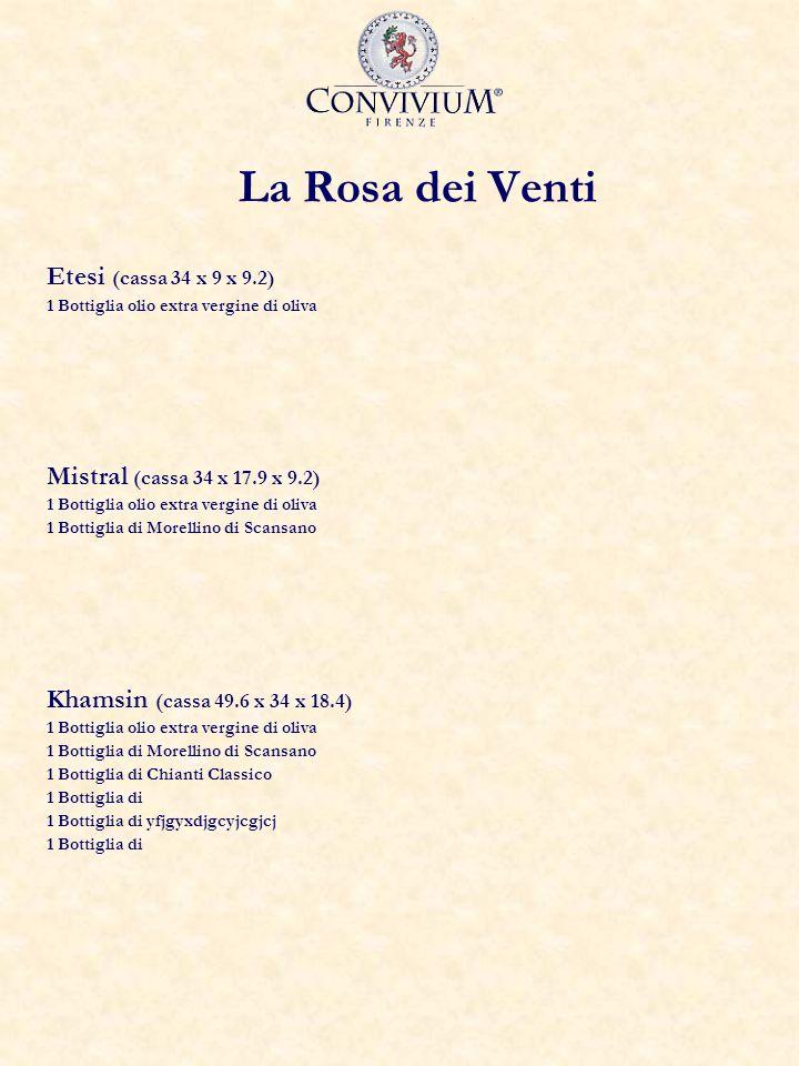 La Rosa dei Venti Etesi (cassa 34 x 9 x 9.2)