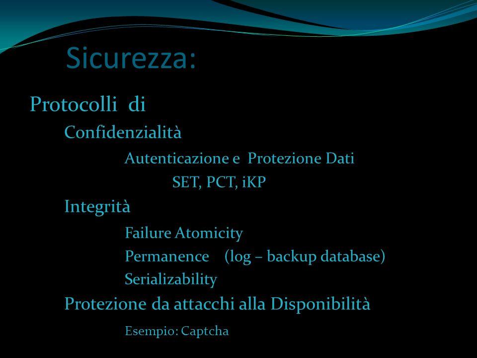 Sicurezza: Protocolli di Confidenzialità