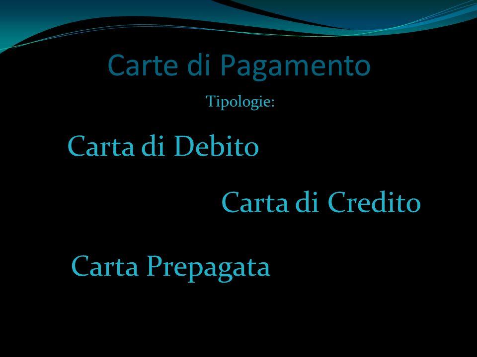 Carte di Pagamento Carta di Debito Carta di Credito Carta Prepagata
