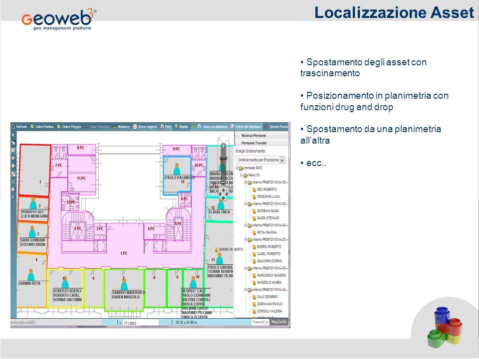 Localizzazione Asset Spostamento degli asset con trascinamento