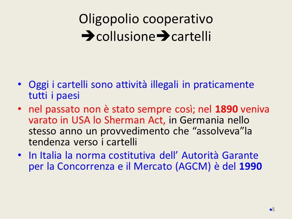 Oligopolio cooperativo collusionecartelli