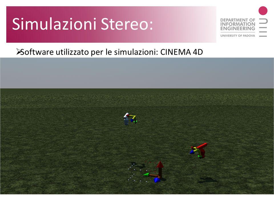 Simulazioni Stereo: Software utilizzato per le simulazioni: CINEMA 4D