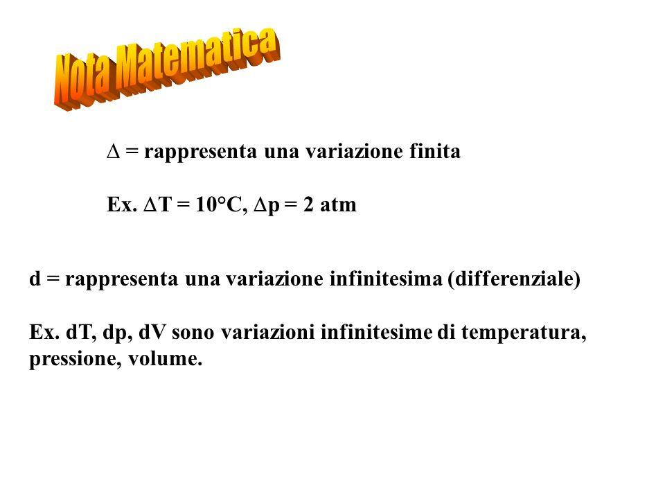 Nota Matematica = rappresenta una variazione finita