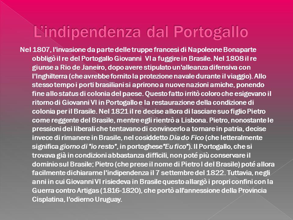 L'indipendenza dal Portogallo