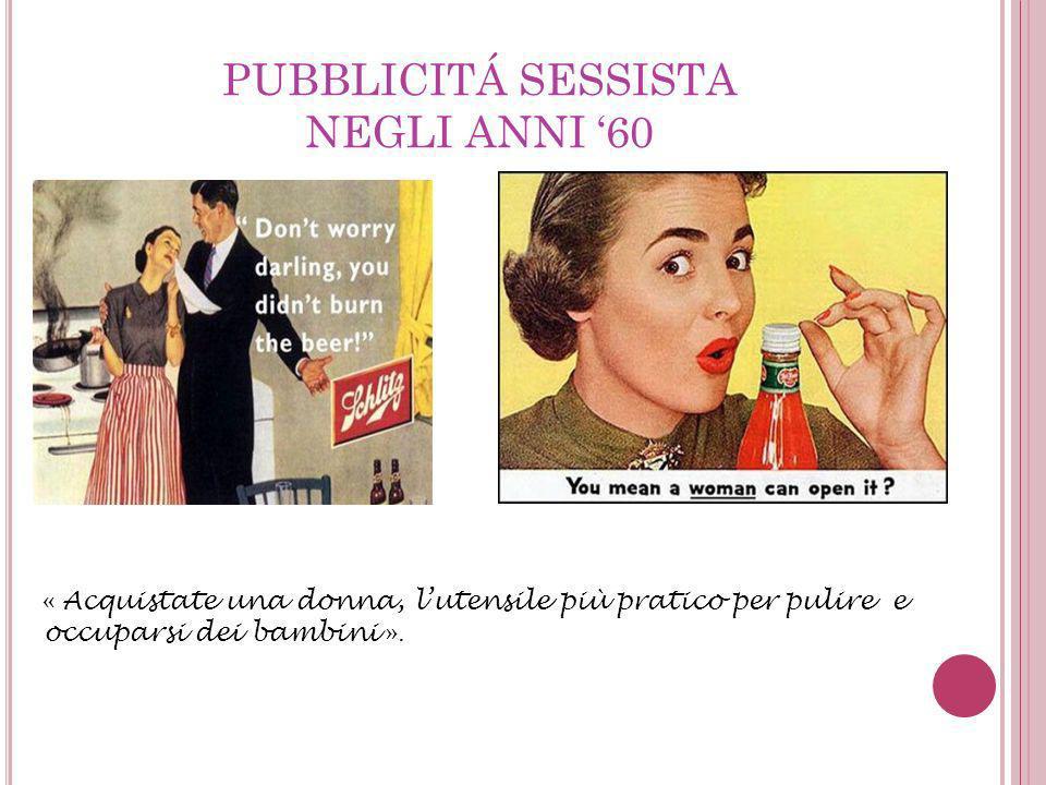 PUBBLICITÁ SESSISTA NEGLI ANNI '60