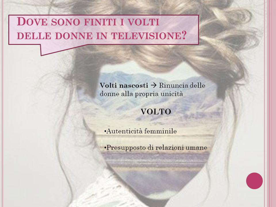 Dove sono finiti i volti delle donne in televisione