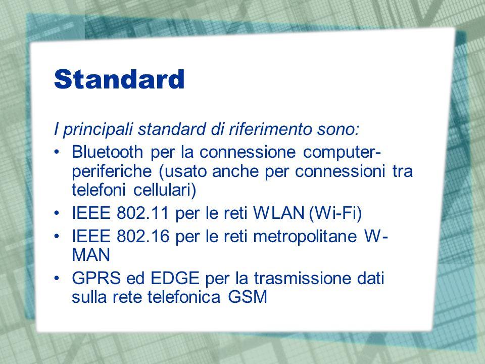 Standard I principali standard di riferimento sono: