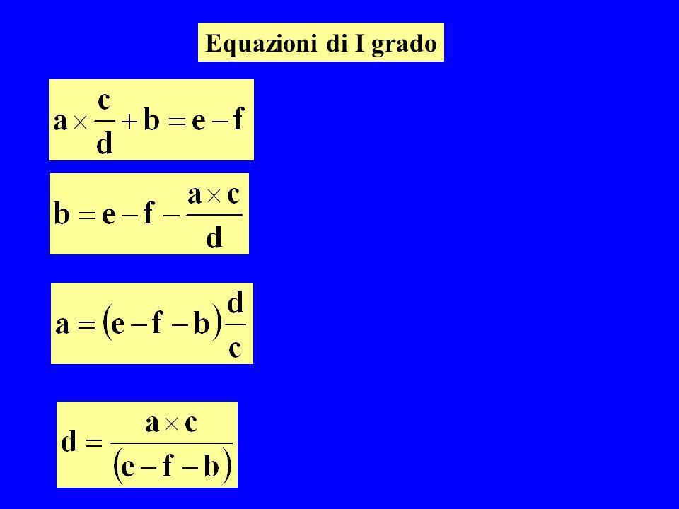 Equazioni di I grado