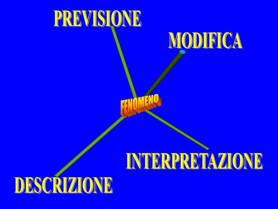 PREVISIONE MODIFICA FENOMENO INTERPRETAZIONE DESCRIZIONE