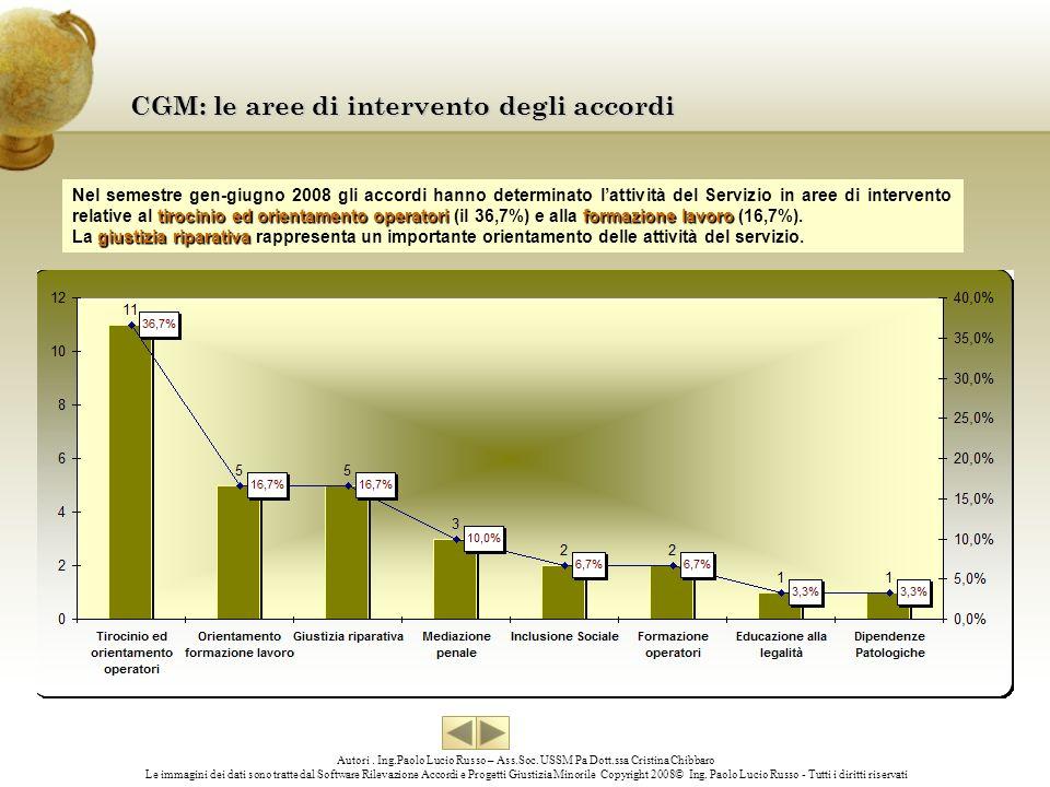 CGM: le aree di intervento degli accordi