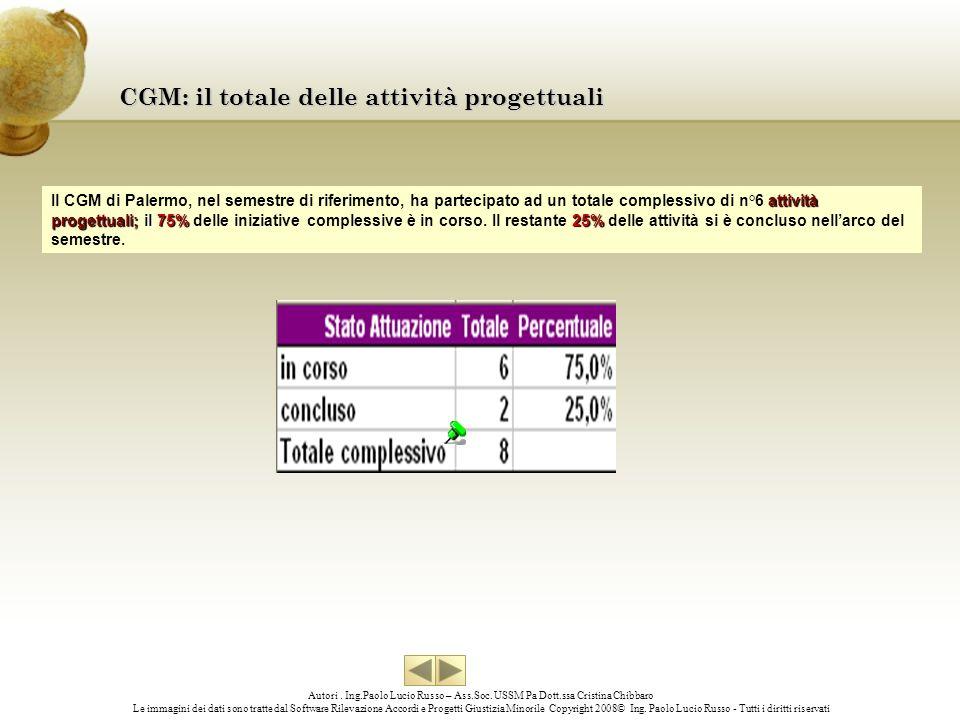 CGM: il totale delle attività progettuali