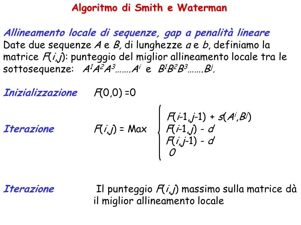 Algoritmo di Smith e Waterman