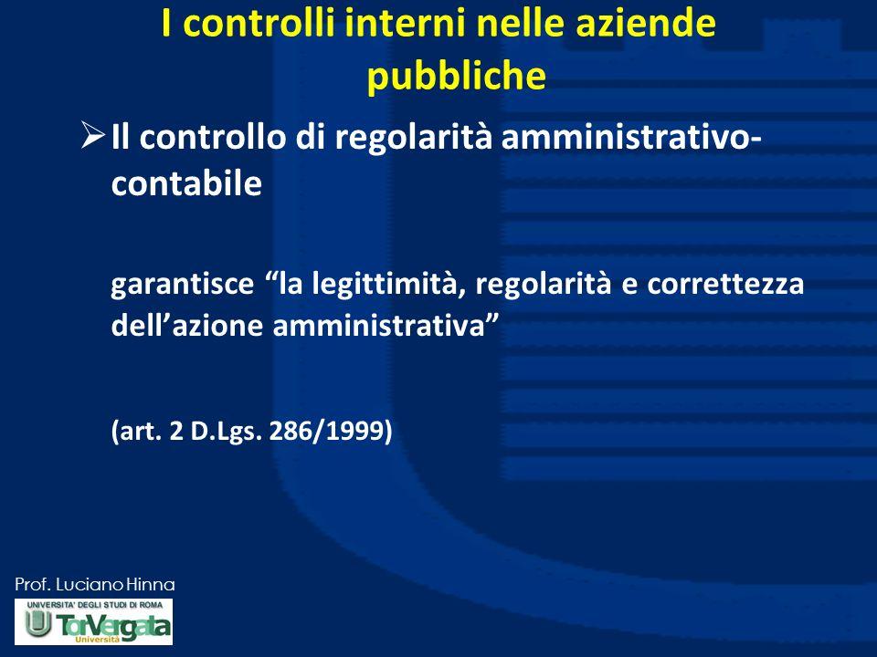 I controlli interni nelle aziende pubbliche