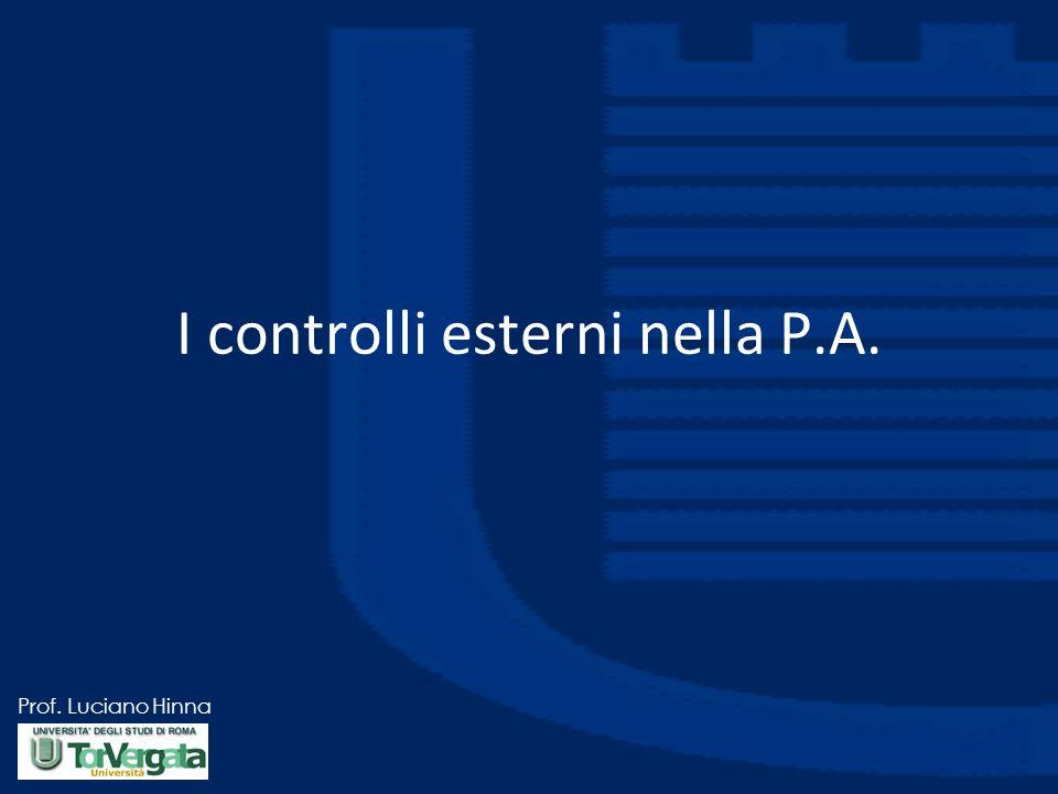 I controlli esterni nella P.A.
