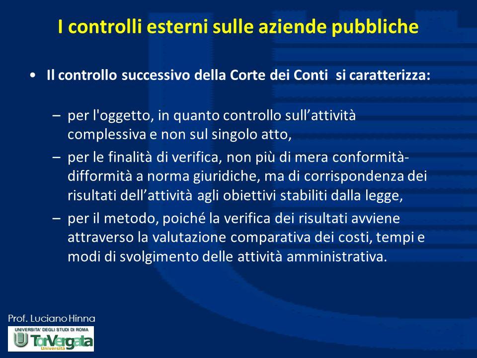I controlli esterni sulle aziende pubbliche