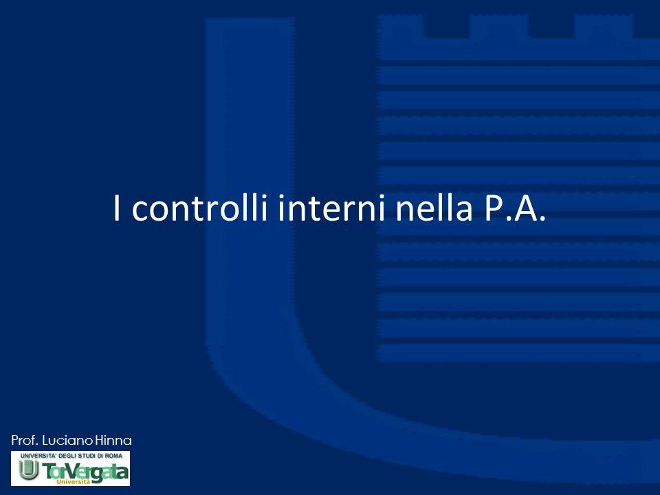 I controlli interni nella P.A.