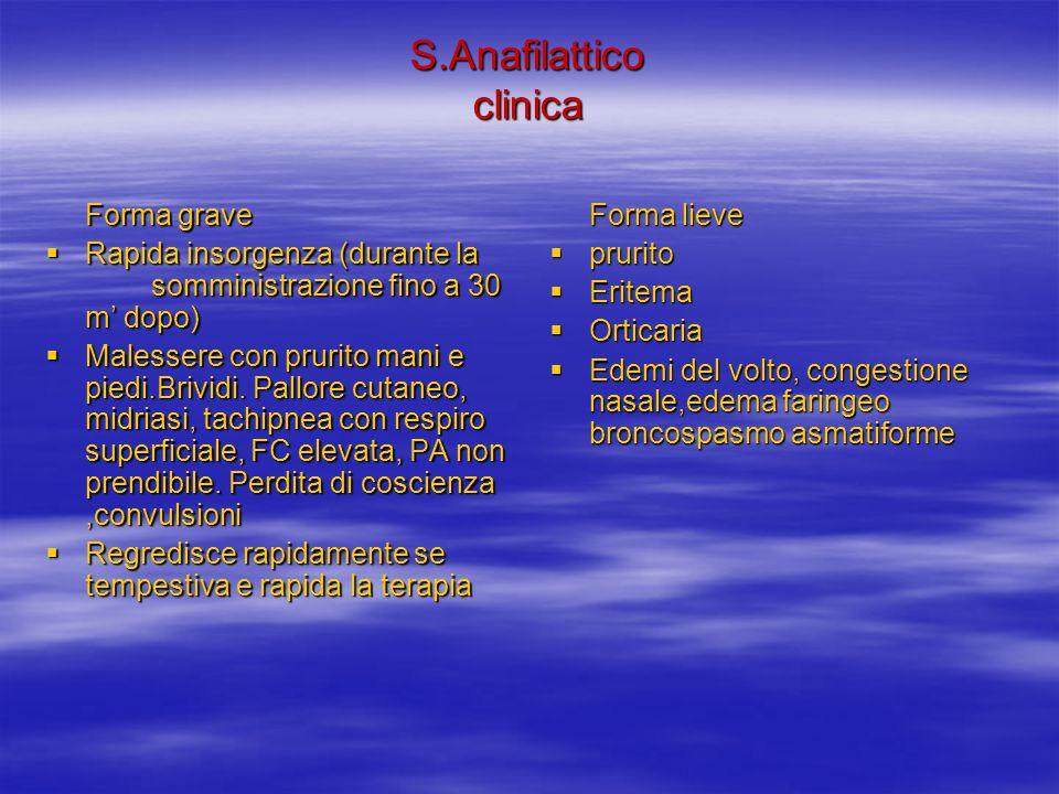 S.Anafilattico clinica