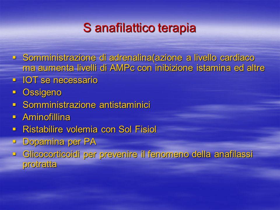 S anafilattico terapia
