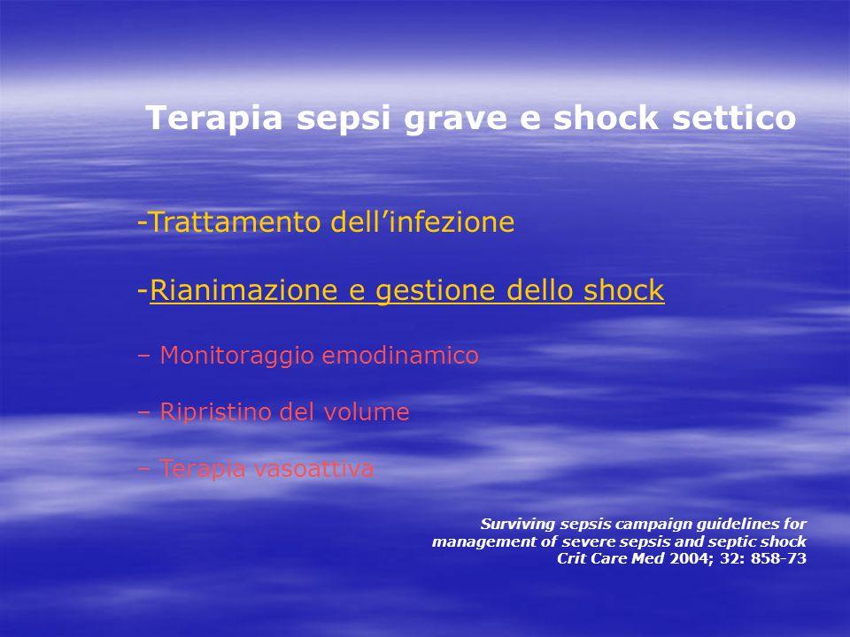 Terapia sepsi grave e shock settico