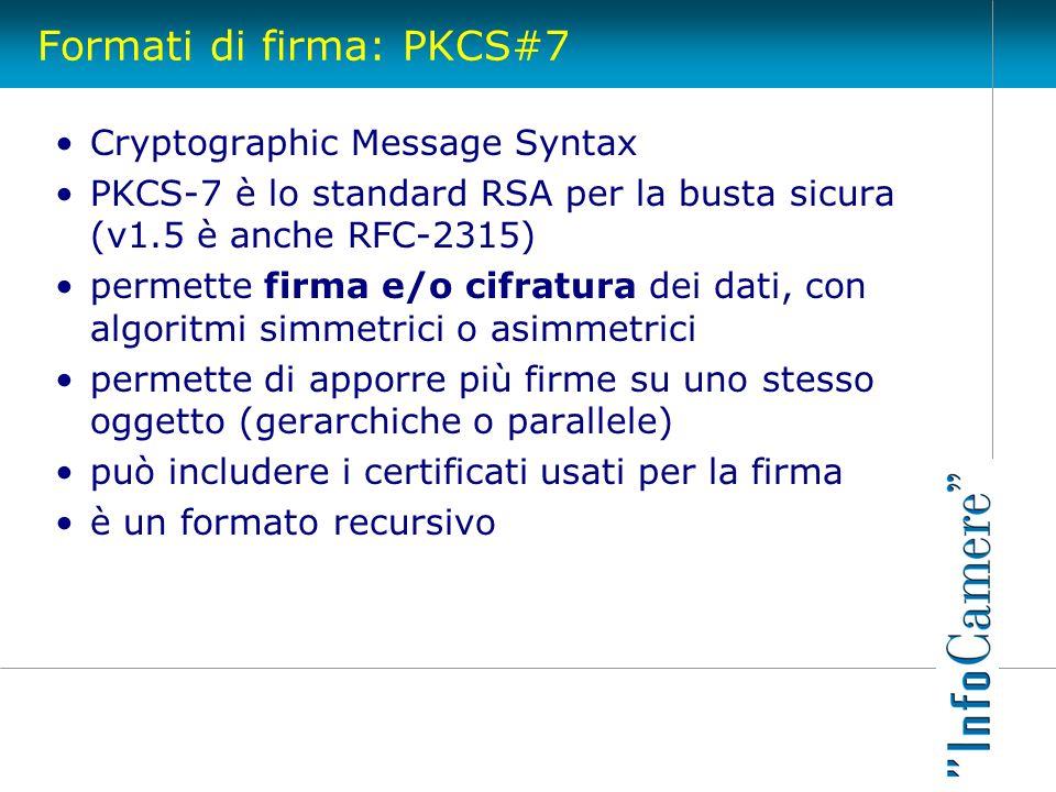 Formati di firma: PKCS#7
