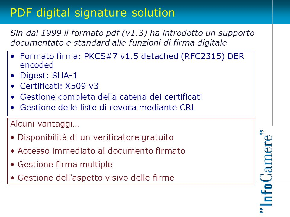 PDF digital signature solution
