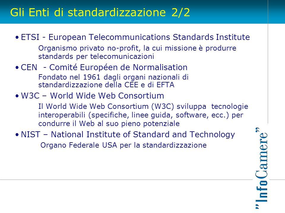 Gli Enti di standardizzazione 2/2