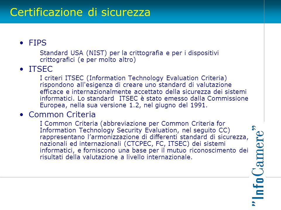 Certificazione di sicurezza