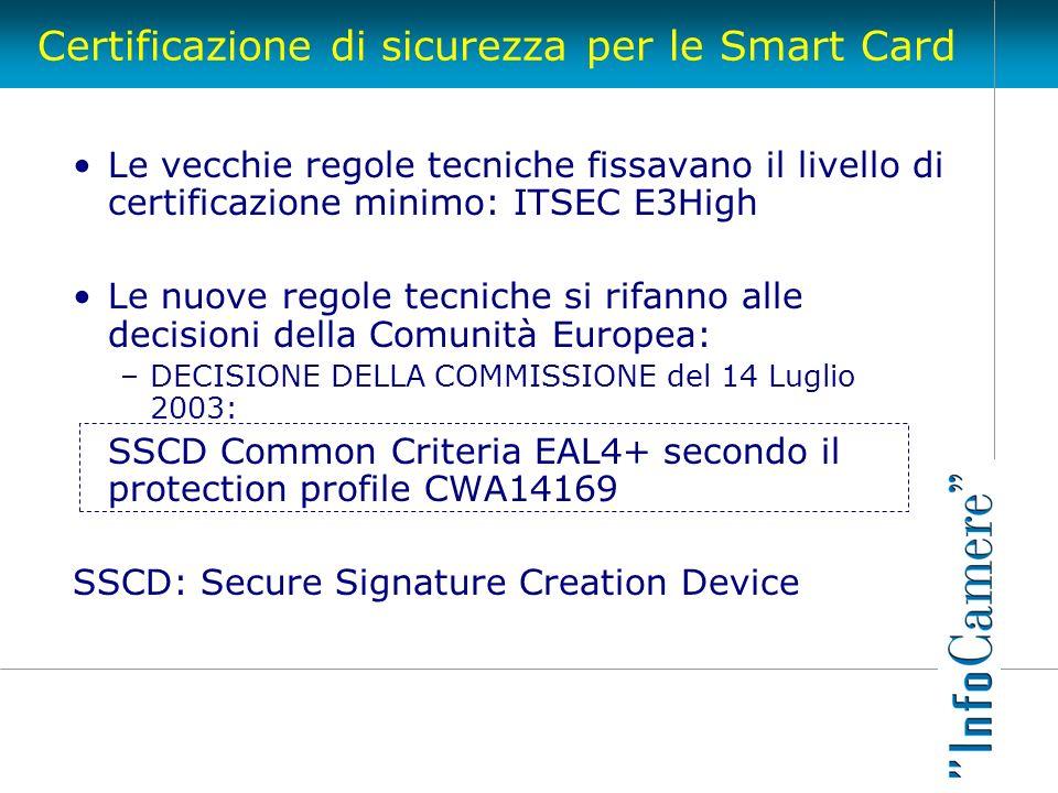 Certificazione di sicurezza per le Smart Card
