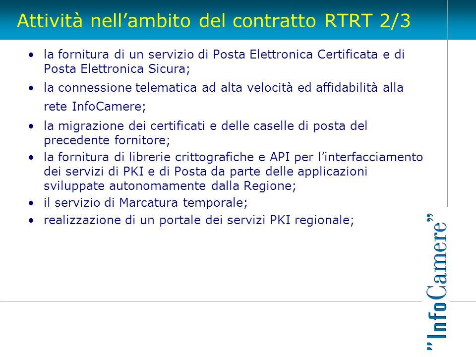 Attività nell'ambito del contratto RTRT 2/3