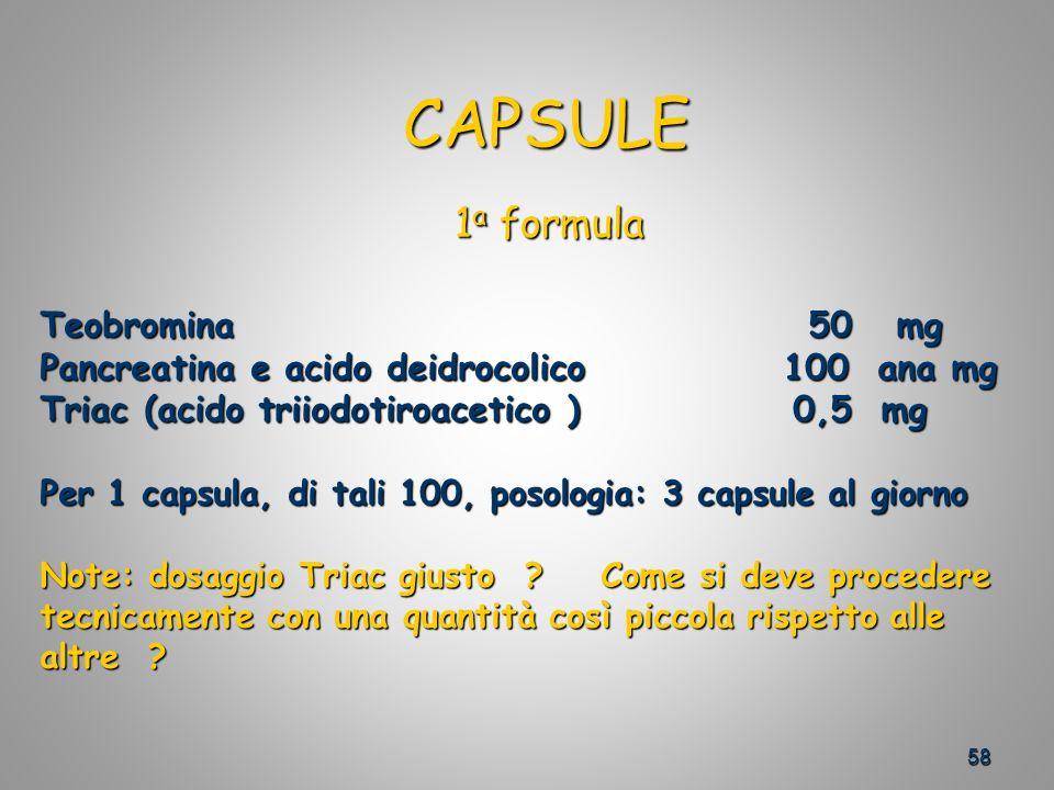 CAPSULE 1a formula Teobromina 50 mg
