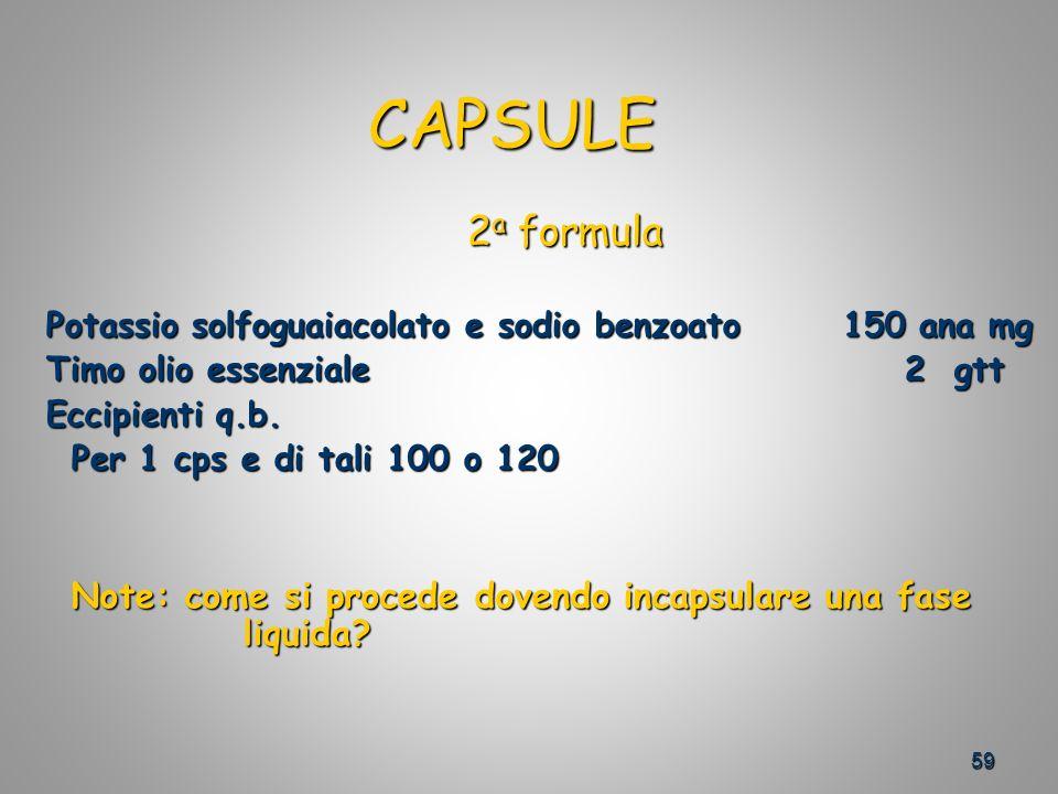 Potassio solfoguaiacolato e sodio benzoato 150 ana mg