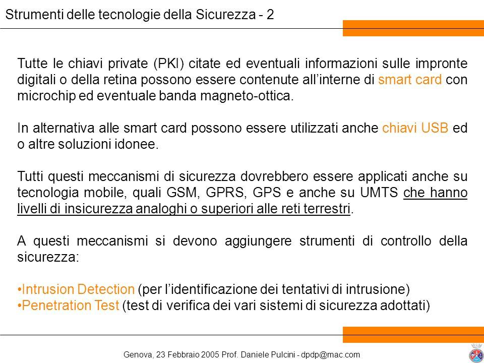 Strumenti delle tecnologie della Sicurezza - 2