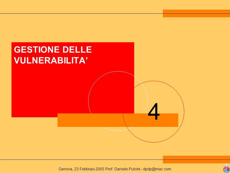 GESTIONE DELLE VULNERABILITA'