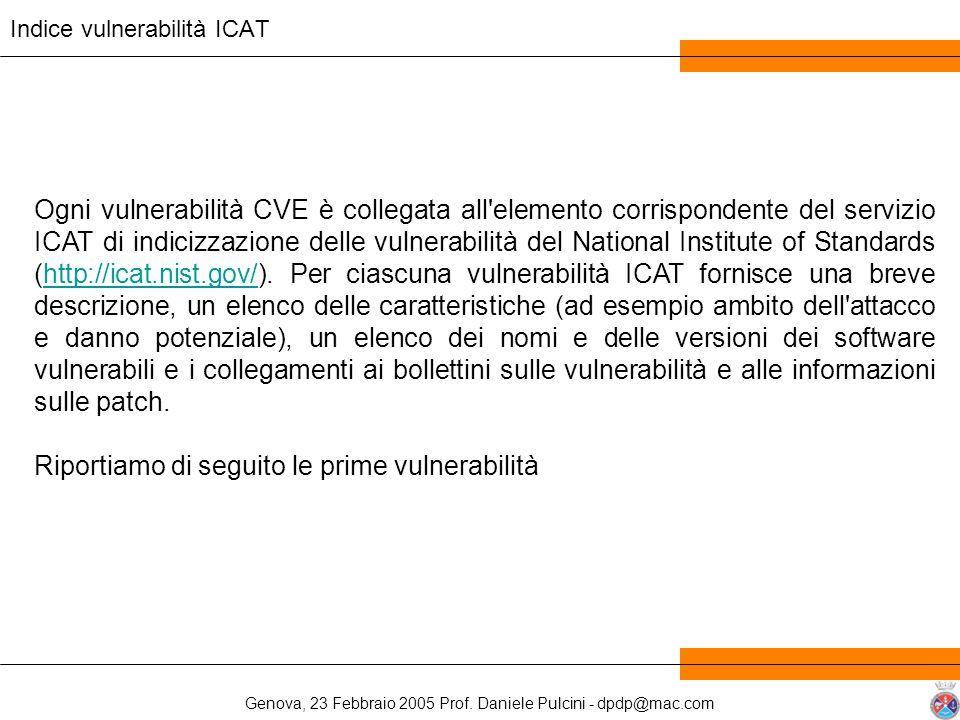Indice vulnerabilità ICAT