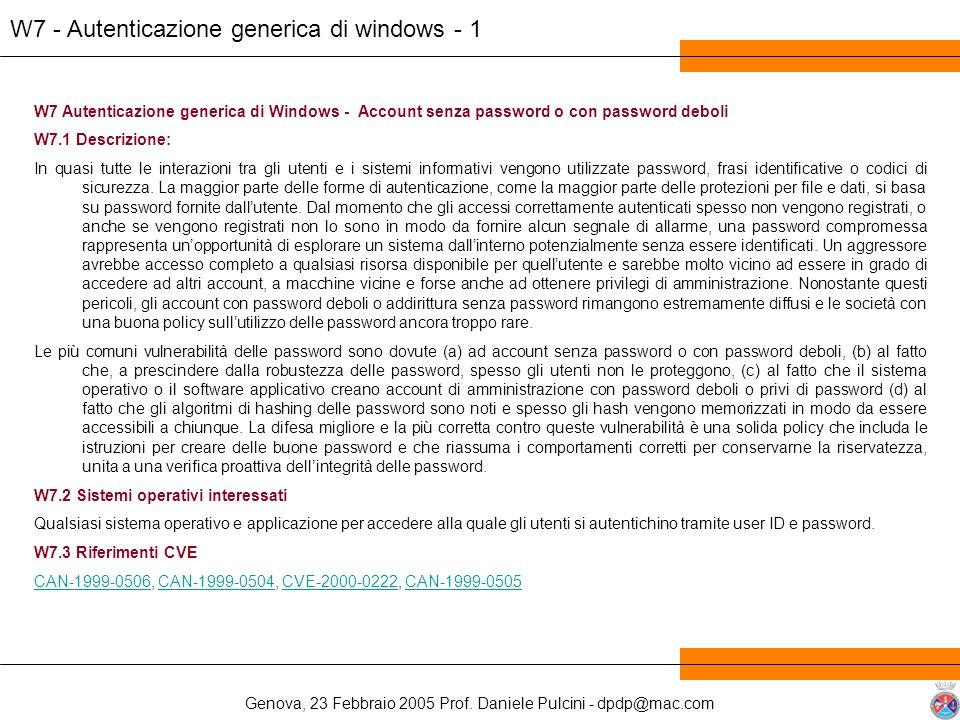 W7 - Autenticazione generica di windows - 1
