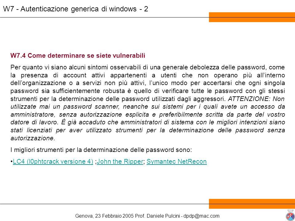 W7 - Autenticazione generica di windows - 2