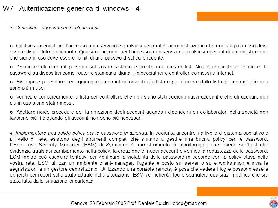W7 - Autenticazione generica di windows - 4