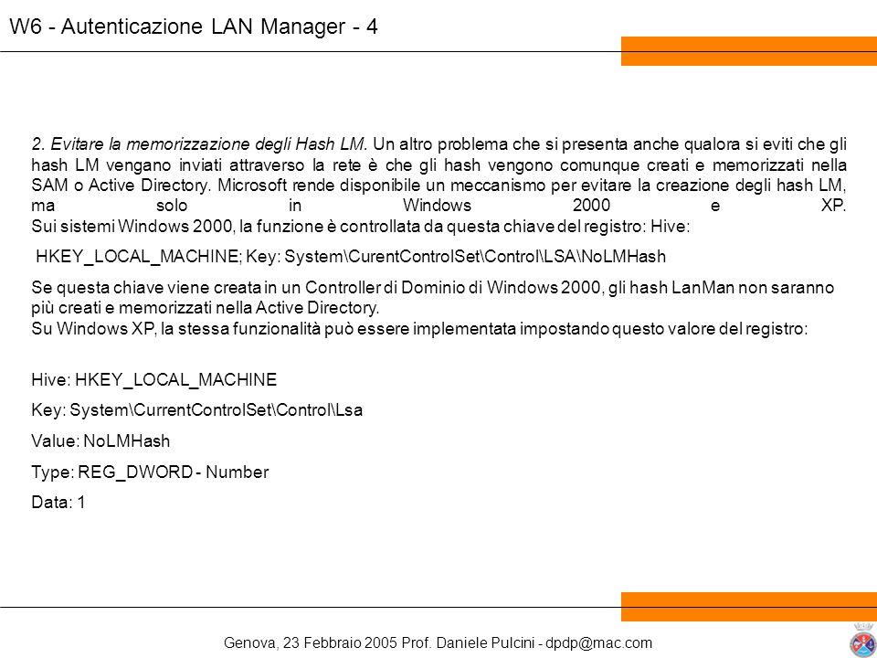W6 - Autenticazione LAN Manager - 4
