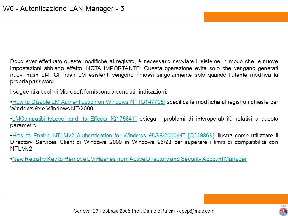W6 - Autenticazione LAN Manager - 5