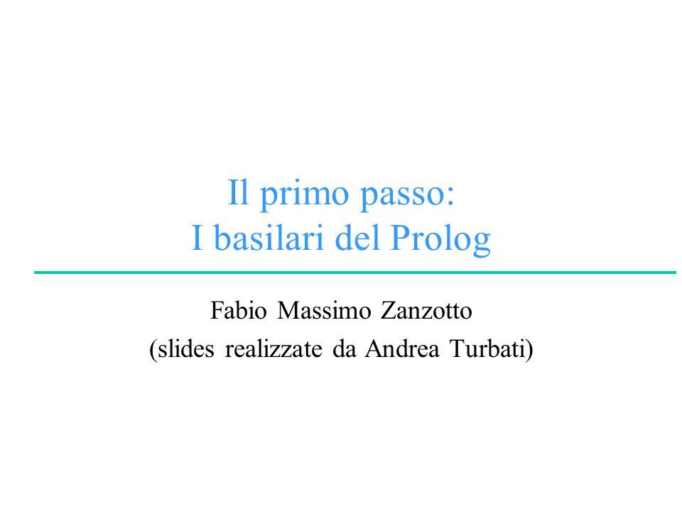 Il primo passo: I basilari del Prolog