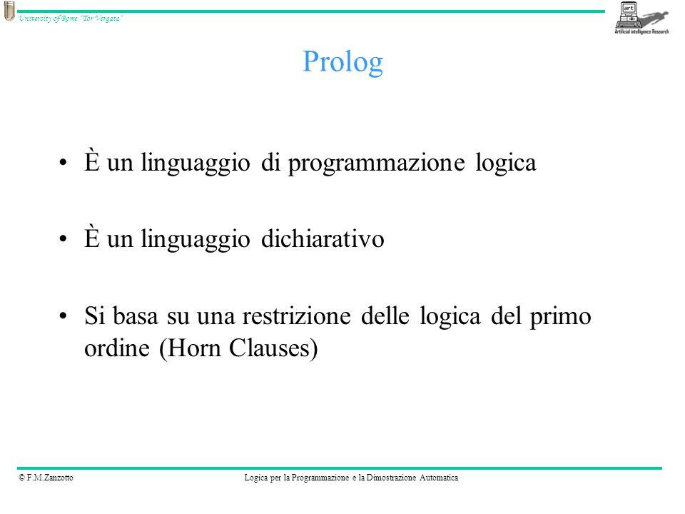 Prolog È un linguaggio di programmazione logica