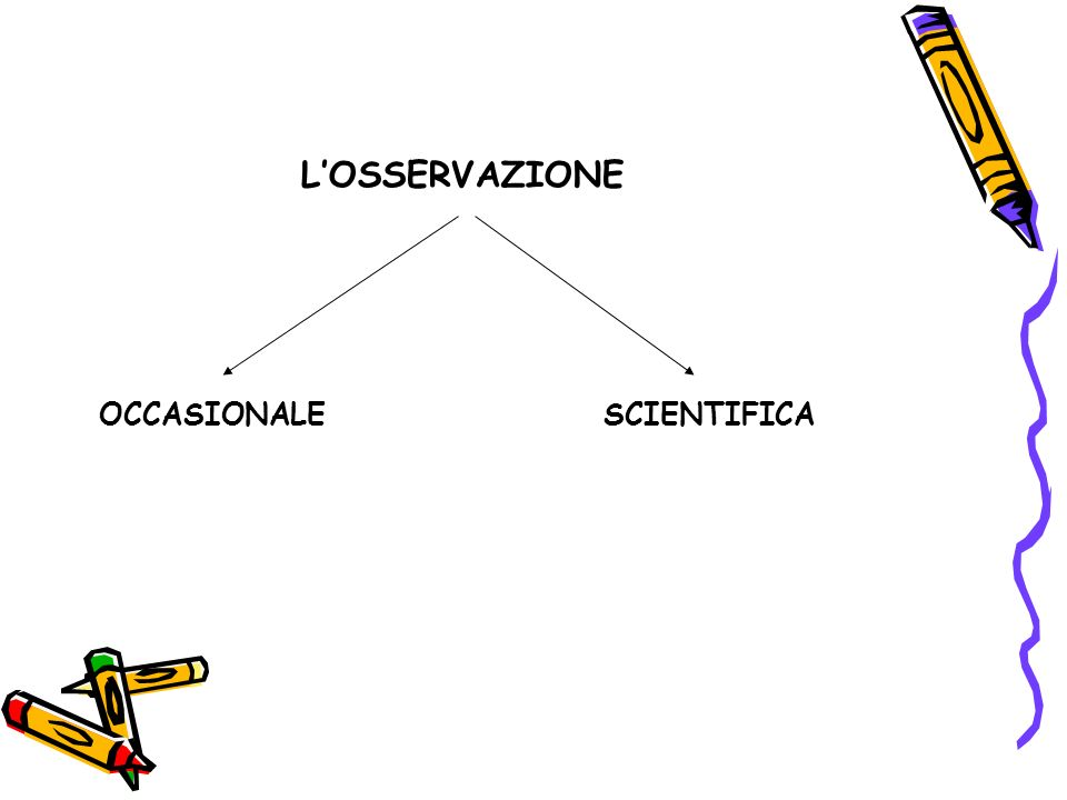 L'OSSERVAZIONE OCCASIONALE SCIENTIFICA