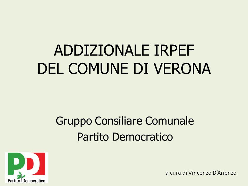 ADDIZIONALE IRPEF DEL COMUNE DI VERONA