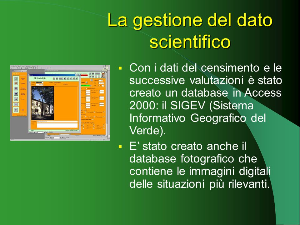 La gestione del dato scientifico