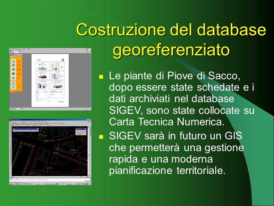 Costruzione del database georeferenziato
