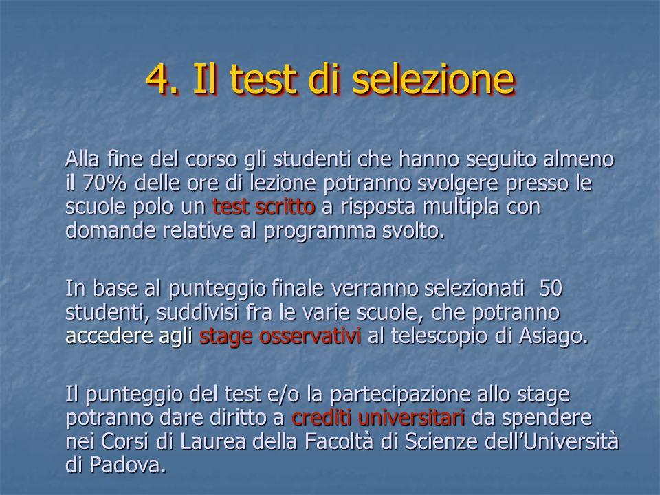 4. Il test di selezione