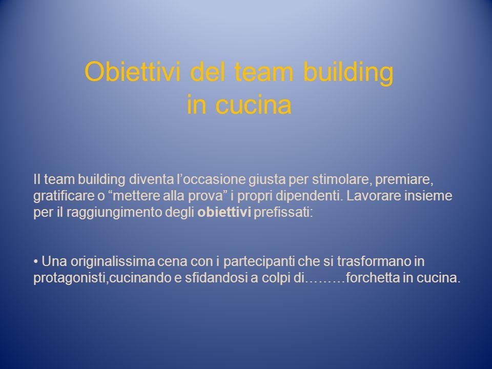 Obiettivi del team building