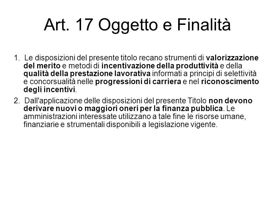 Art. 17 Oggetto e Finalità