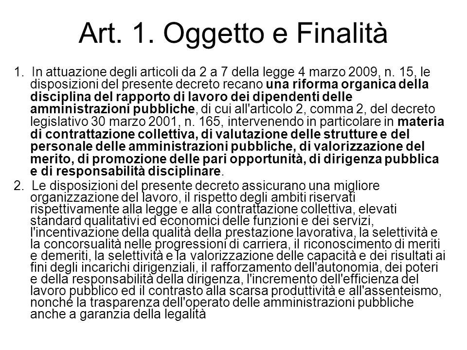 Art. 1. Oggetto e Finalità